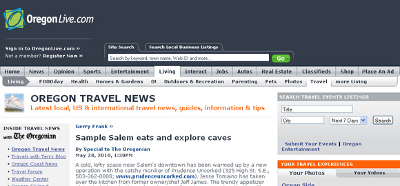 OregonLive Travel News Headline